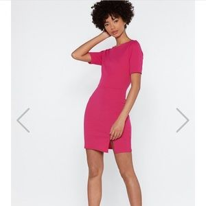 Pink fitting dress